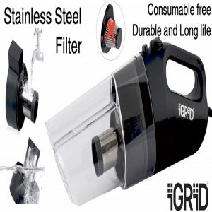 iGRiD Handheld Best Car Vacuum Cleaner In India 2020 with HEPA Filter