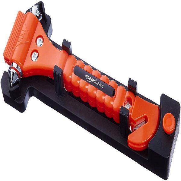 AmazonBasics Best Emergency car seat belt cutter and window hammer India 2020